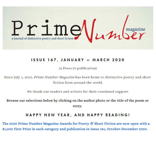 prime number i167 january march 2020