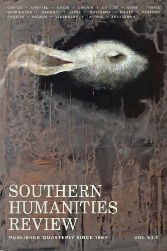 southern humanities review spring 2020